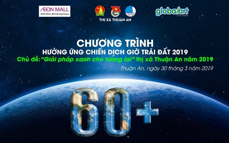 AEON MALL BINH DUONG CANARY WITH 2019 EARTH HOUR ACTIVITY