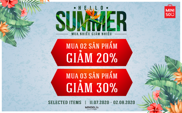 MINISO – HELLO SUMMER SALE UP TO 30%