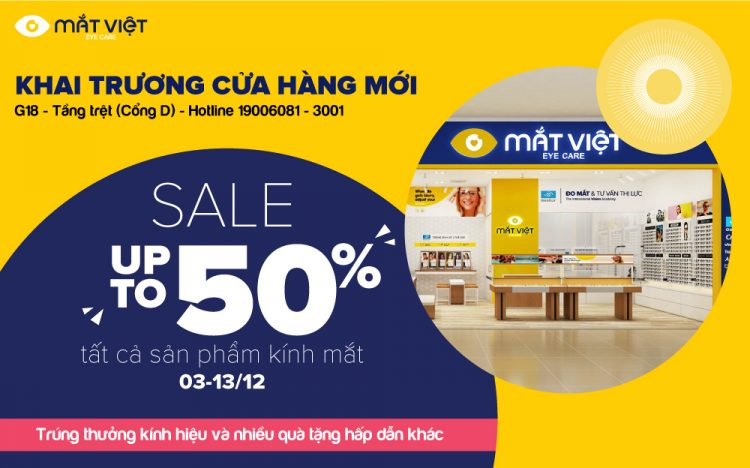 MẮT VIỆT – REOPENING – 𝐒𝐀𝐋𝐄 𝐔𝐏 𝐓𝐎 𝟓𝟎% ALL PRODUCTS
