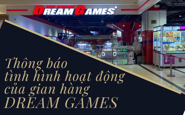 NOTIFICATION ABOUT OPERATION OF TENANT DREAM GAMES