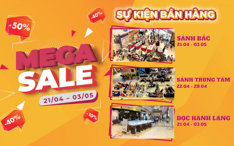 MEGASALE STORM IS NOW LANDING ON AEONMALL BINH DUONG CANARY !!!