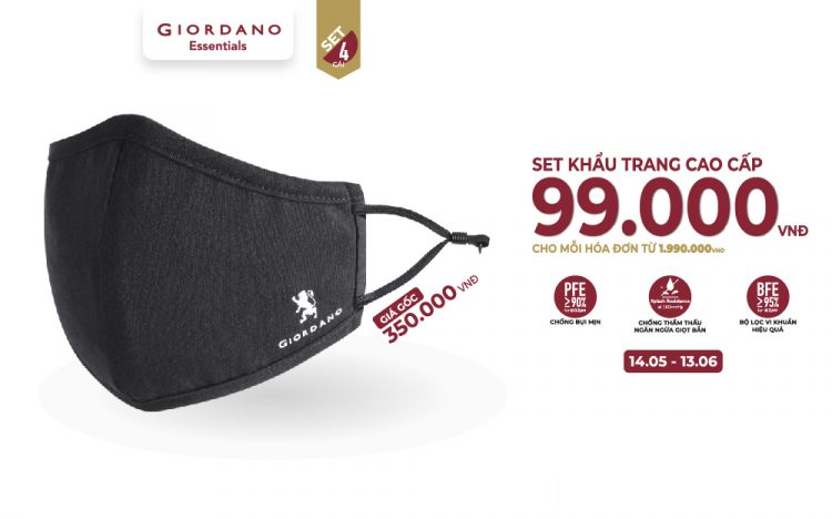 GIORDANO – PROTECTIVE FACE MASK ONLY 99.000VNĐ