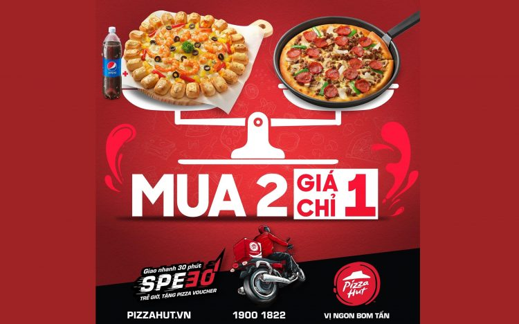 PIZZA HUT – BUY 1 GET 1 EVERY DAY