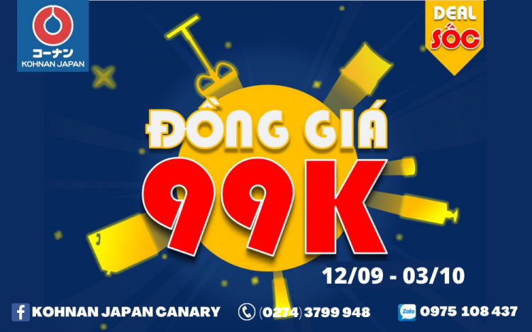 KOHNAN JAPAN – SUPER SALES 99K