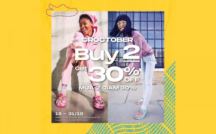 CROCS – 30% OFF WHEN BUYING FROM 2 CROCS ITEMS