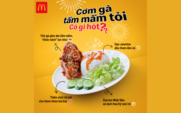 MCDONALD'S – CHICKEN WITH FISH GARLIC SAUCE ONLY FROM 39K